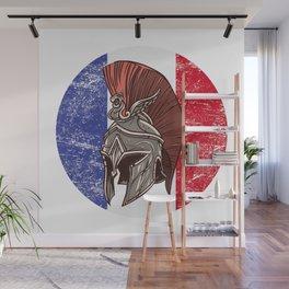 France French Spartan  TShirt Warrior Shirt Flag Gift Idea Wall Mural