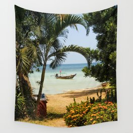 Long Tail Boat in Thailand Wall Tapestry