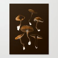mushrooms Canvas Prints featuring Mushrooms by Andreas Lie