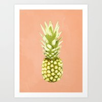 pineapple Art Prints featuring Pineapple by Grace
