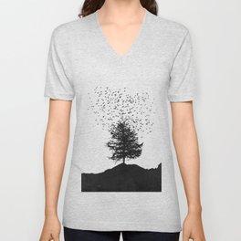 Ascension - Flock of Birds over Tree Unisex V-Neck