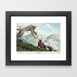 Shelter 2 - Lynx fights Fox Framed Art Print