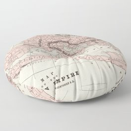 Vintage Map of The Roman Empire (1901) Floor Pillow