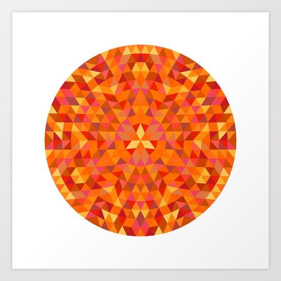 Triangle Sun Mandala Art Print
