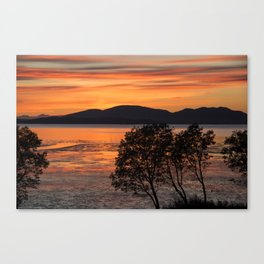 Sunset Over the Flats Canvas Print