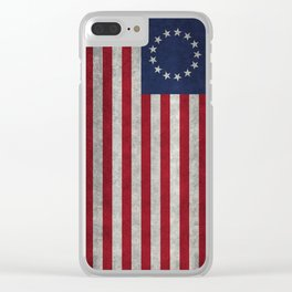 Betsy Ros Flag Clear iPhone Case