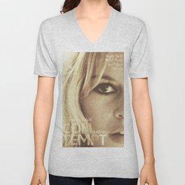 Brigitte Bardot, Contempt, movie poster, Le Mépris, Jean-Luc Godard, Fritz Lang, Unisex V-Neck