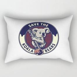 Save The Koala Bears Rectangular Pillow
