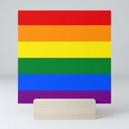 Pride rainbow flag Mini Art Print