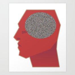 Brain Issues - Noise Art Print