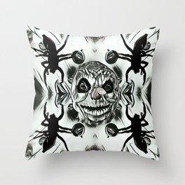 Frosty Black Throw Pillow