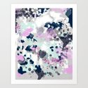 Elsie - modern abstract painting trendy home dorm college decor canvas art by charlottewinter