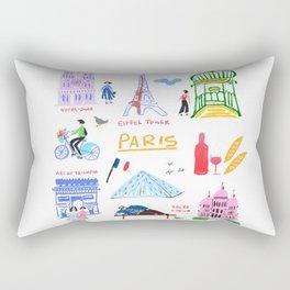 Colorful Paris Rectangular Pillow