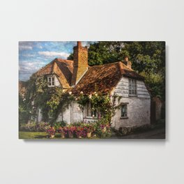 A Chiltern Cottage Metal Print