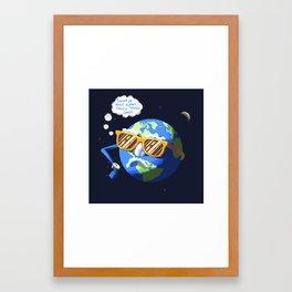 Tanning Framed Art Print