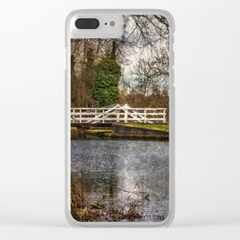 Sulhamstead Swing Bridge On The Kennet and Avon Clear iPhone Case