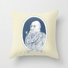 By Darwin's Beard Throw Pillow