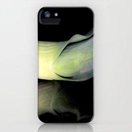 Leek on Black iPhone Case