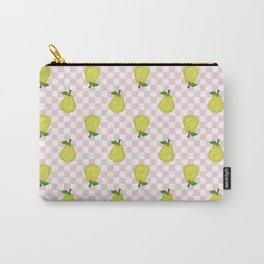 Checked Pears Carry-All Pouch