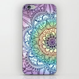 Purple Butterfly Mandala iPhone Skin