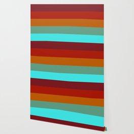 Yoshika - Multicolor Retro Stripes Wallpaper