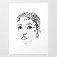 fka twigs Art Prints featuring FKA Twigs by LaraLindsassy