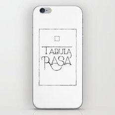 Tabula Rasa iPhone & iPod Skin