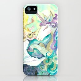 Kelpie unicorn and goldfish iPhone Case