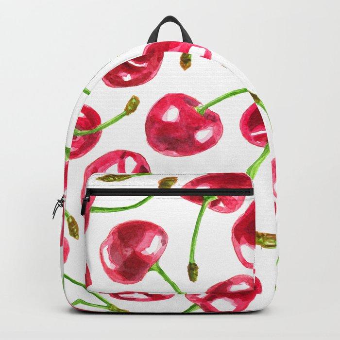 Watercolor cherries pattern Backpack