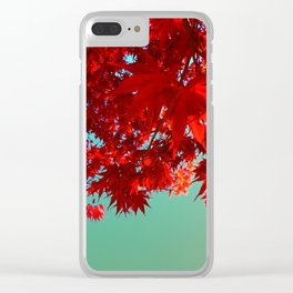 Fire Maple Clear iPhone Case