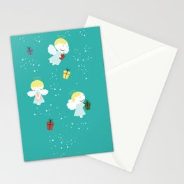 Christmas or birthday baby angels Stationery Cards