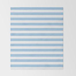 Blue and white Horizontal Stripes Throw Blanket