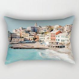 Bogliasco, Italy Travel Artwork Rectangular Pillow