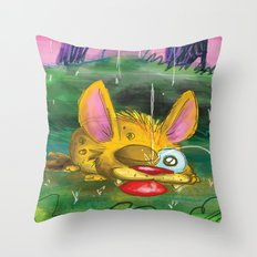 Come in from the rain Throw Pillow