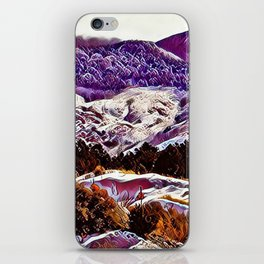 Winter Purple Pink Hills by CheyAnne Sexton iPhone Skin