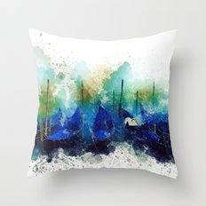 Venice Gondola painting Throw Pillow