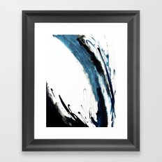 Reykjavik: a pretty and minimal mixed media piece in black, white, and blue Framed Art Print