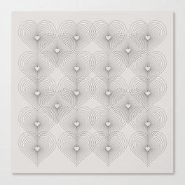 Heart Shape Pattern #society6 #decor #buyart Canvas Print