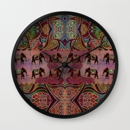 Floral Elephants #2 Wall Clock