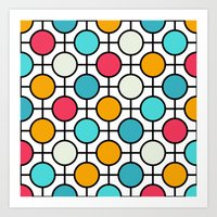 polka dots Art Prints featuring Polka Dots by Dizzy Moments