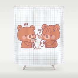 Bongo and Ginger - Emboque Shower Curtain