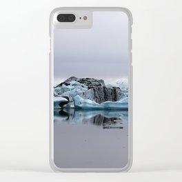 Icebergs at Glacier Lagoon Jökullsárlon Clear iPhone Case