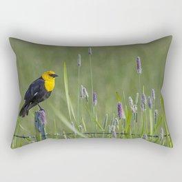 Yellow-Headed Blackbird, No. 1 Rectangular Pillow