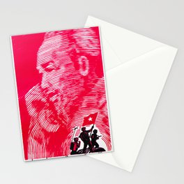 Vietnam propaganda poster - Uncle Ho Victory Stationery Cards