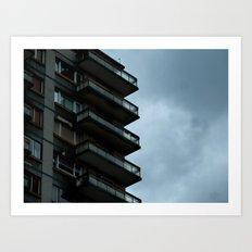 Half building in Bilbao (Spain) Art Print