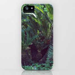 Vintage garden with exotic palm iPhone Case