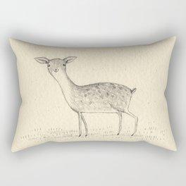 Monochrome Deer Rectangular Pillow