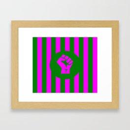 woman feminist logo Framed Art Print