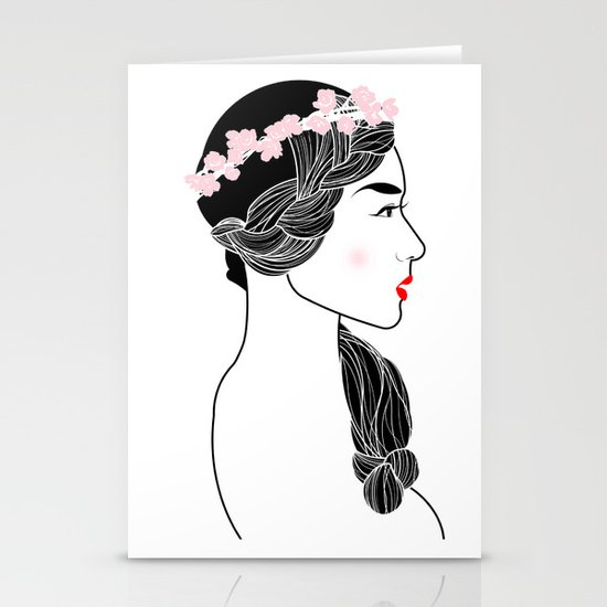 Cherry Blossom Girl. Stationery Cards