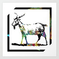 goat Art Prints featuring Goat by LoRo  Art & Pictures